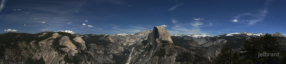 Panoramic Blue Sky Over Half Dome by jalbrant