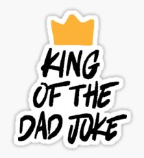 King of the Dad Joke Sticker