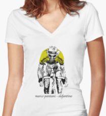 Le Tour: Marco Pantani Women's Fitted V-Neck T-Shirt