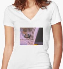 Louis Theroux Reflection Women's Fitted V-Neck T-Shirt