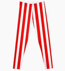 Red Vertically-Striped Leggings