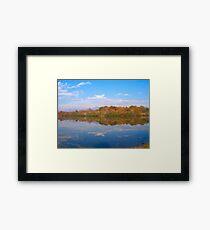 Fall At The Lake Framed Print