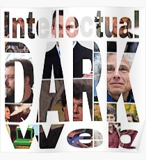 Intellektuelle dunkle Web-Gesichter Poster