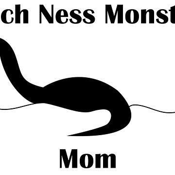 Loch Ness Monster Mom Funny by ValeriesGallery