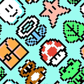 Super Mario Bros. 3 / Items / blue sky / large by danteartist