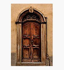 Italian Door Bra Cuneo Photographic Print
