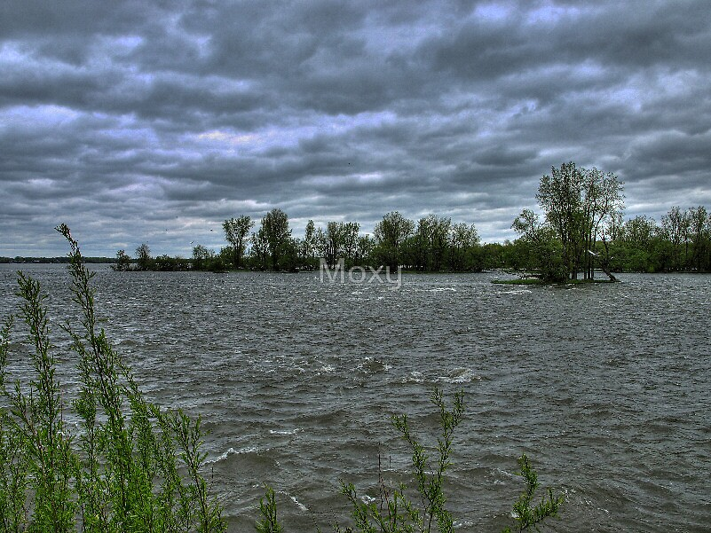 The River at Chambly HDR2 by Moxy