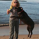 21. Carole & her Chocolate Labrador by Cathie Brooker