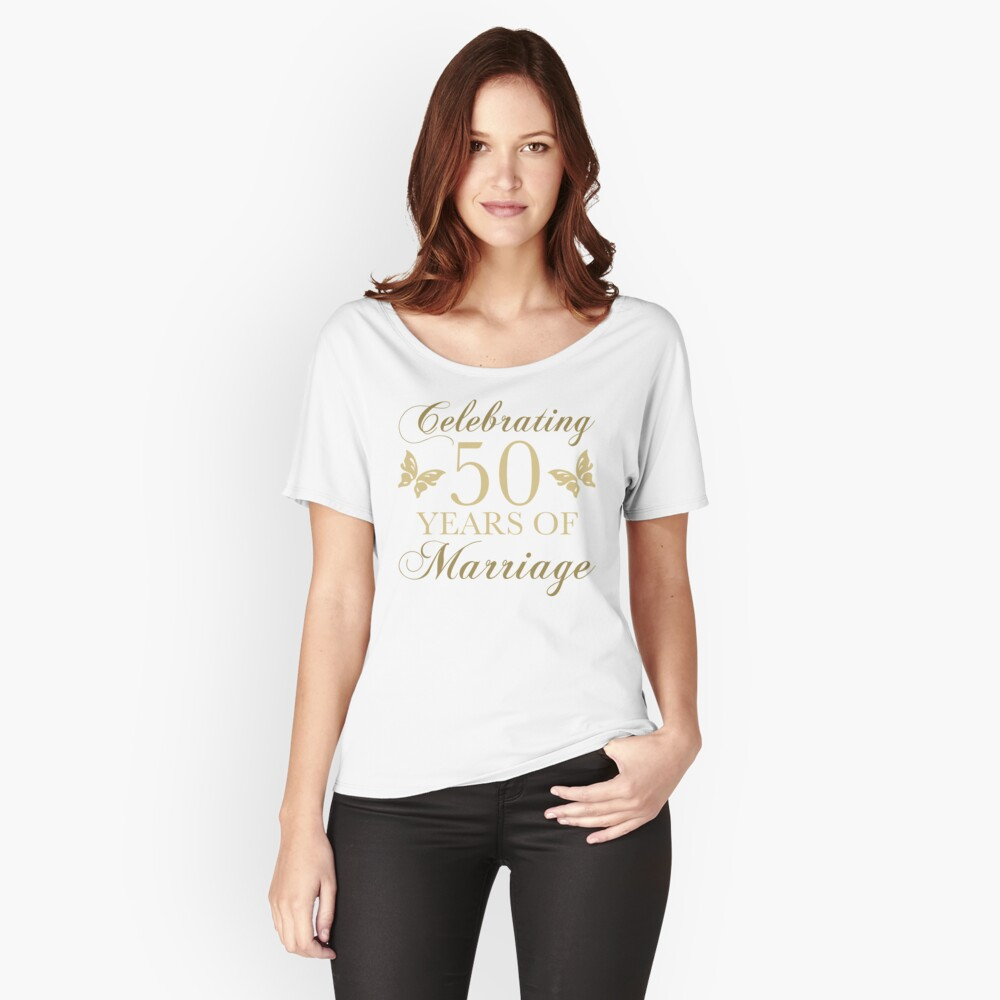 Celebrating 50th Anniversary Women's Relaxed Fit T-Shirt Front