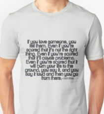 Mark Sloan - If you love someone Unisex T-Shirt