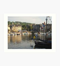 Flags over Honfleur Art Print