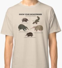 Know Your Monotremes Classic T-Shirt