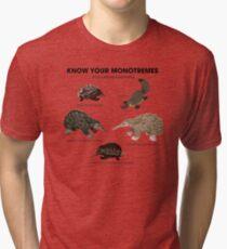 Know Your Monotremes Tri-blend T-Shirt