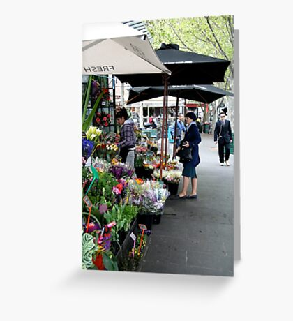City Florist, Melbourne Greeting Card