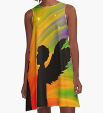Rainbow Angel A-Line Dress