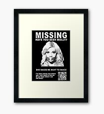 Have You Seen Molly? Framed Print