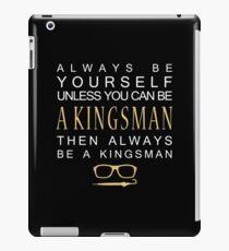 Be a Kingsman. iPad Case/Skin