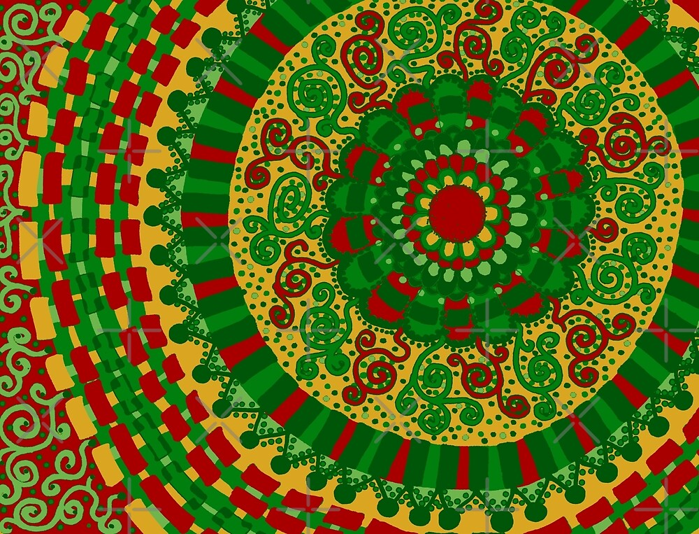 Christmas Mandala by Clare Wuellner