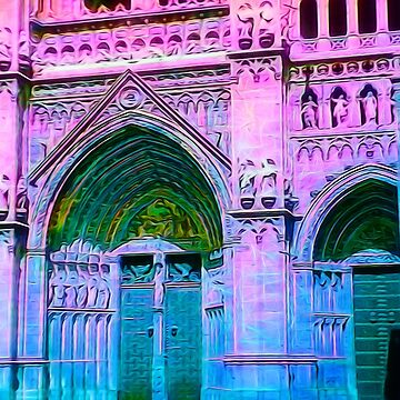 Cathedral in Pink and Blue by bloomingvine