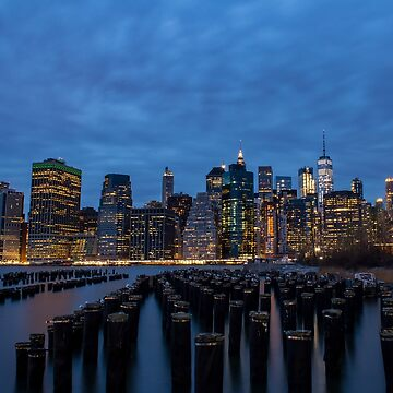 Twilight in lower Manhattan by fparisi753