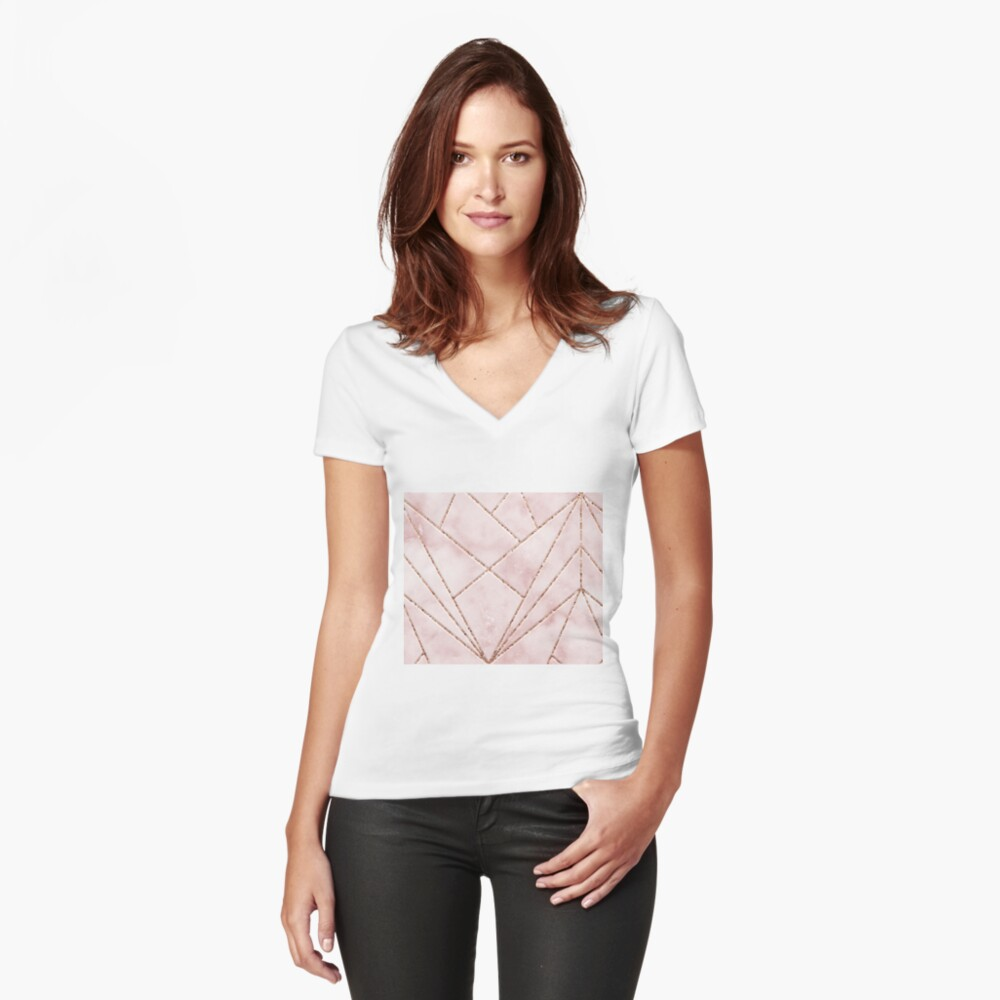 Love and illusion Fitted V-Neck T-Shirt