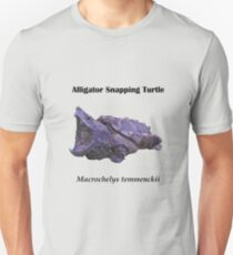 Alligator Snapping Turtle - Black lettering Unisex T-Shirt