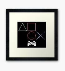 Game console controls Framed Print