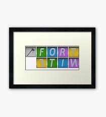 fortnite x Framed Print