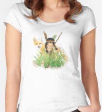 Catori Stalks Like a Fox Women's Fitted Scoop T-Shirt