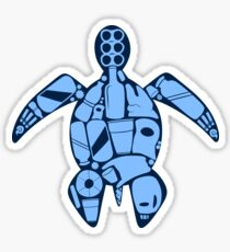 Plastic turtle- blue Sticker