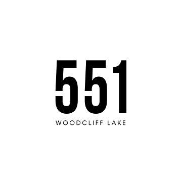 Woodcliff Lake, NJ - 551 Area Code design by CartoCreative
