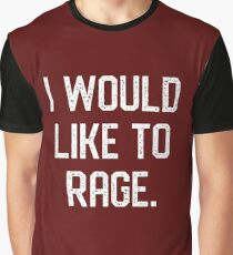 Camiseta gráfica Me gustaría rabiar Barbarian Tableop RPG