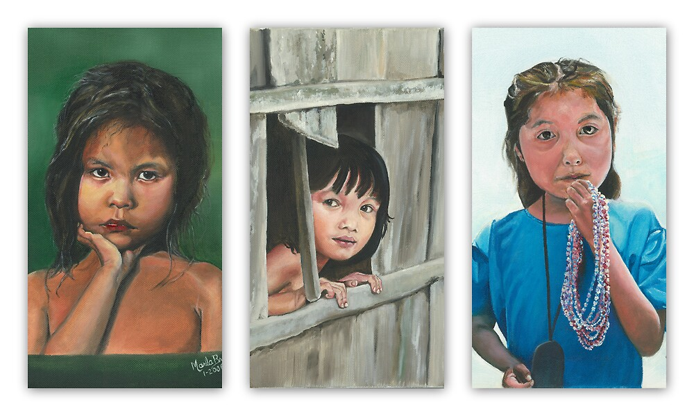 THE LITTLE GIRLS/Oil on canvas by Marla Brate