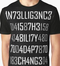 Adapt or Die Encoded Reversed Graphic T-Shirt