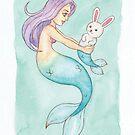 MerMay 2018: May 23rd - Pet Mermaid by dreampigment