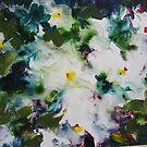White flowers by Jean Cowan