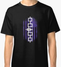 Iroquois American Flag   Iroquois and USA Design Classic T-Shirt