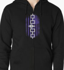 Iroquois American Flag   Iroquois and USA Design Zipped Hoodie