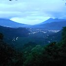 Treehouse View Of A Volcano - Earth Lodge - Antigua - Guatemala - Central America by exploramum