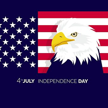 4th of July American Flag with Eagle by Saruk