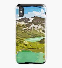 gxp alpine mountain view vector art iPhone Case