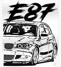 bmw m3 posters redbubble BMW E36 Wagon e87 quot dirty style quot