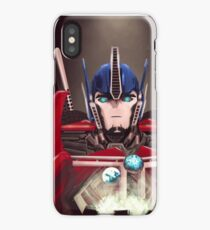 Optimus Prime w/ Earth and Cybertron iPhone Case/Skin