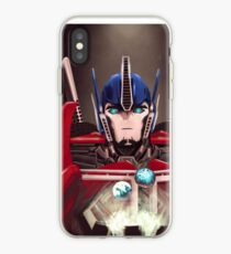 Vinilo o funda para iPhone Optimus Prime w / Earth y Cybertron