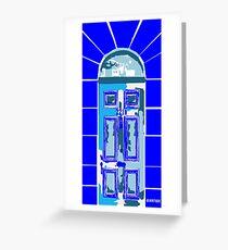SHERLOCK BLUE Greeting Card
