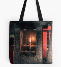 Candle in a Japanese cemetery Tote Bag