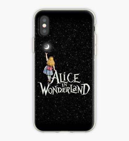 Alicia en el país de las maravillas noche estrellada Vinilo o funda para iPhone