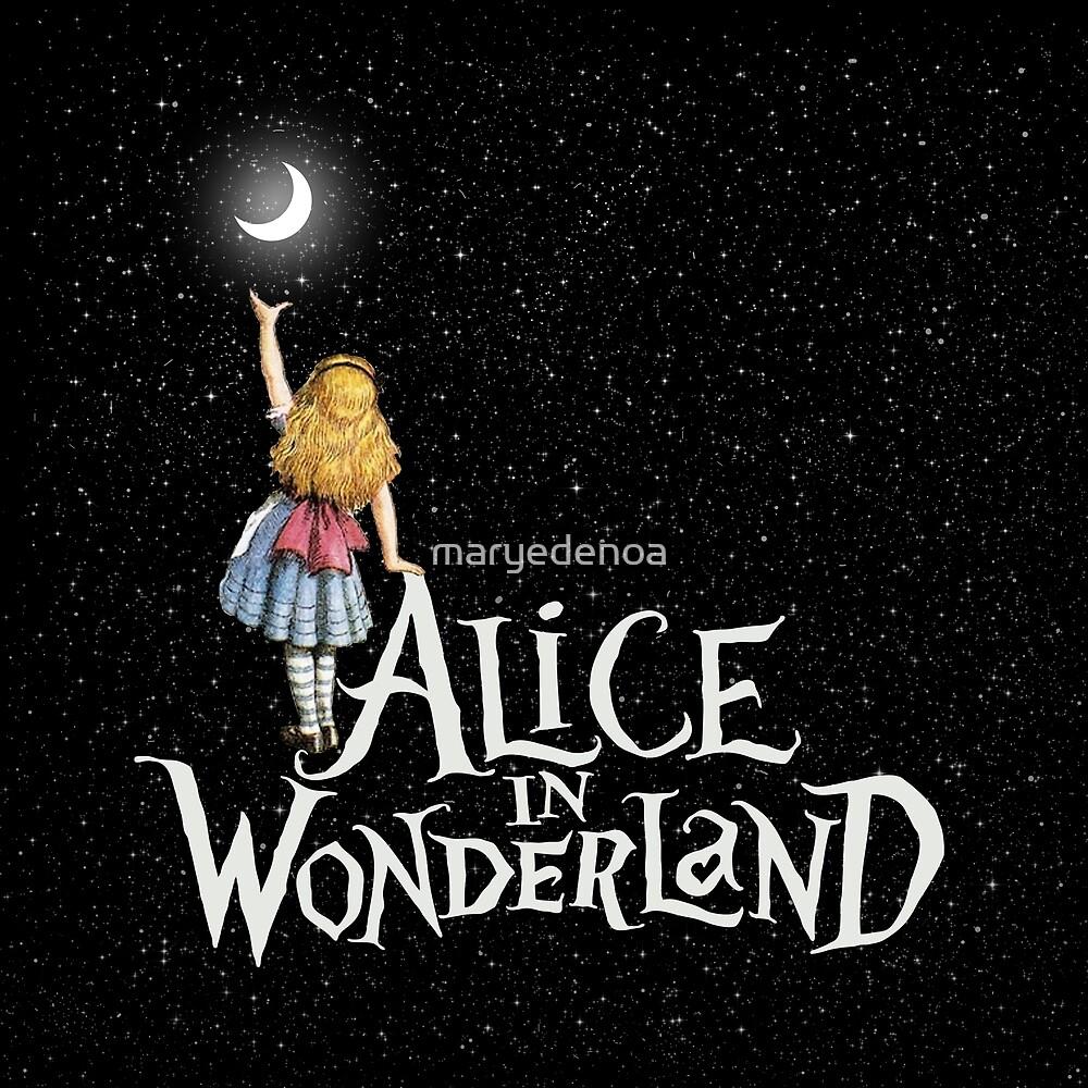 «Alicia en el país de las maravillas noche estrellada» de maryedenoa