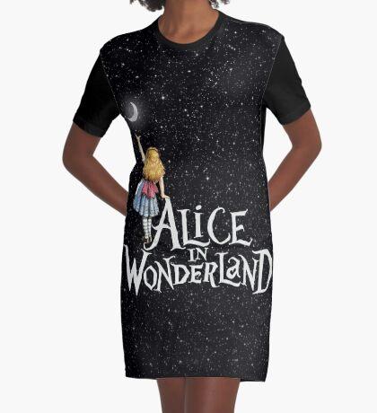 Alicia en el país de las maravillas noche estrellada Vestido camiseta
