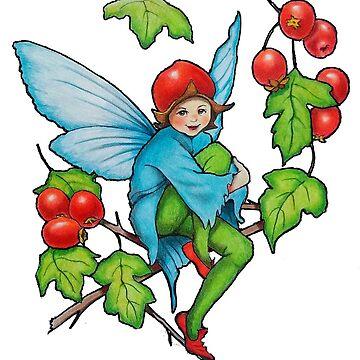 Hawthorn Fairy, Artwork After Cicely Mary Barker by Joyce